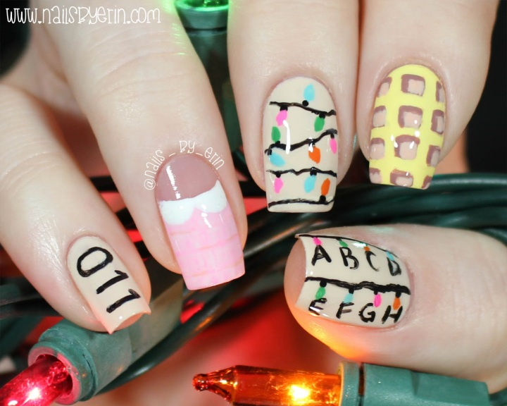 Stranger Things Nail Art!!