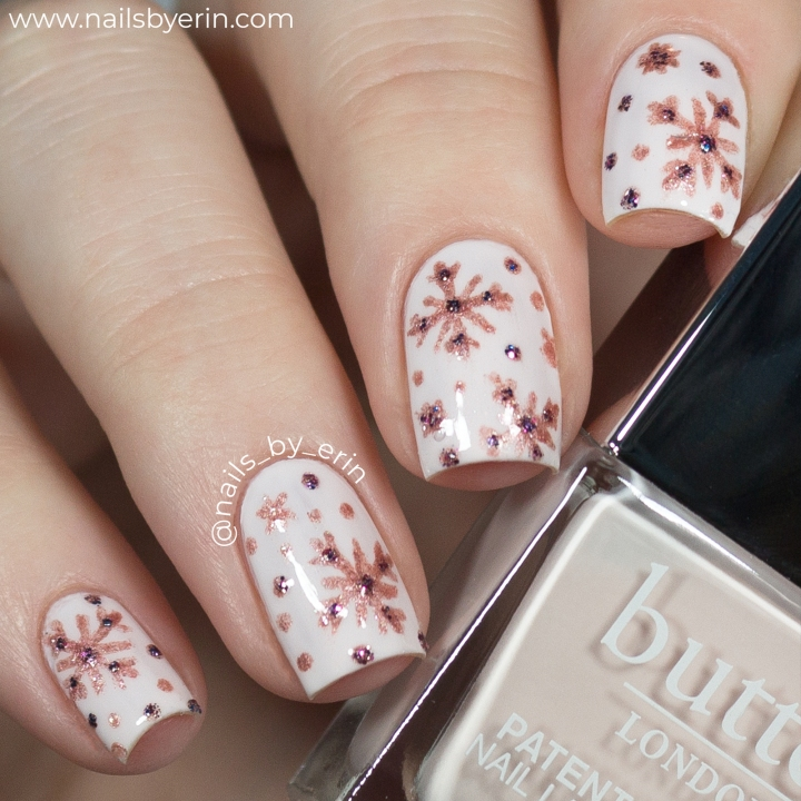 Rose Gold Snowflake Nails and butter LONDON Instagram Takeover