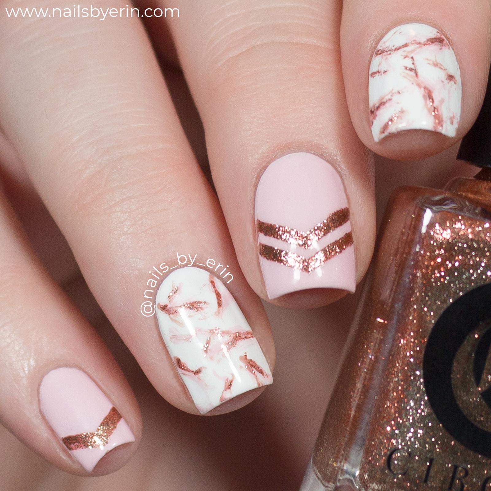 Rose Gold Marble Nails Nailsbyerin Nailsbyerin