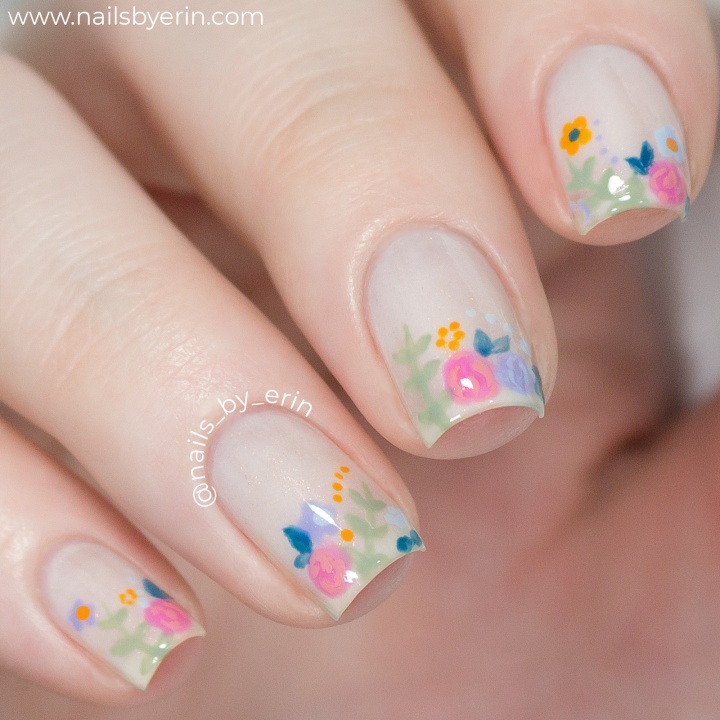 "Spring Floral Nails using China Glaze ""The Arrangement"" Collection 