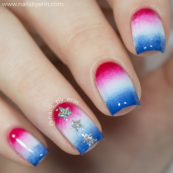 Bomb Pop Fourth of July Nails | NailsByErin