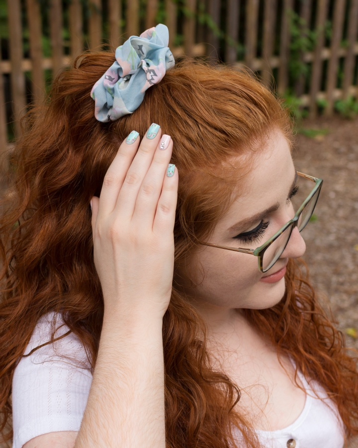 Headbands of Hope – Floral Scrunchies and Matching Nail Art! (+Discount Code)