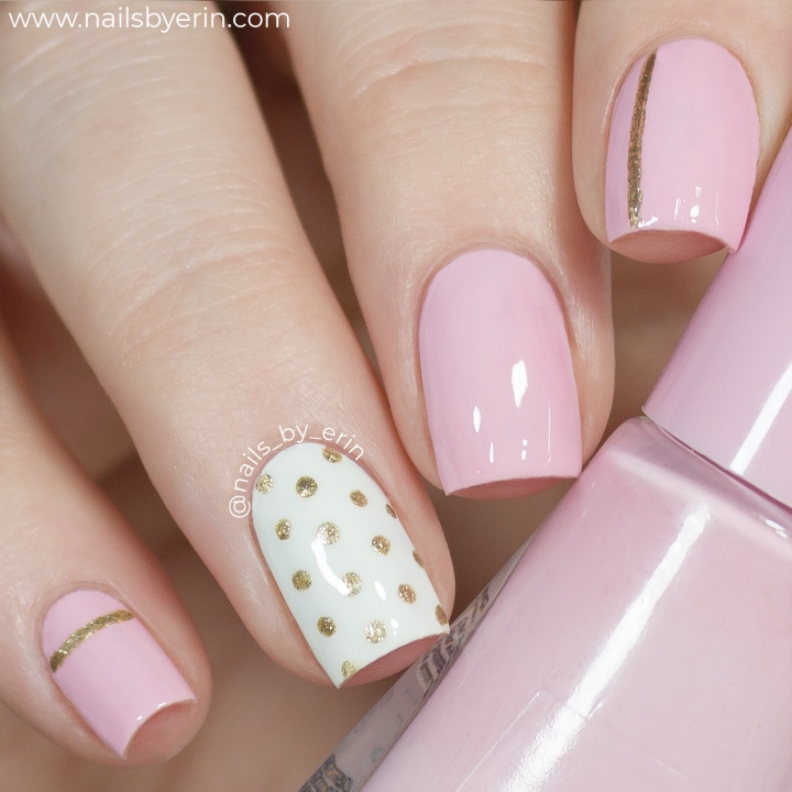 Pink-and-Gold-Polka-Dot-Nails-pic1