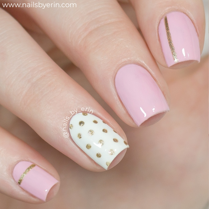 Pink-and-Gold-Polka-Dot-Nails-pic2