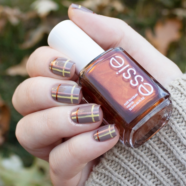 Autumnal Plaid Nails | Essie Fall 2019 Collection