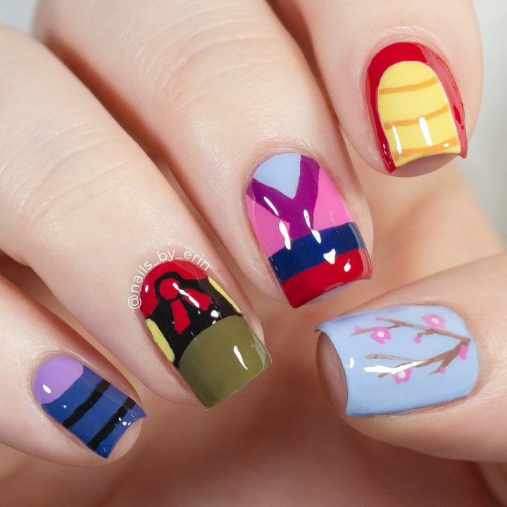 Mulan Nails | Disney Nail Art